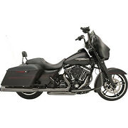 Khrome Werks 201830 Black Chrome Eclipse 22 Exhaust System For Hd Touring 09-16