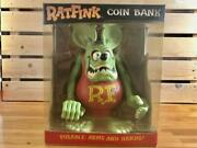 Funko Rat Fink Coin Piggy Bank Posable Arms And Hands Ed Big Daddy Roth W/ Box