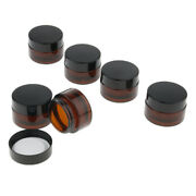 Empty Cosmetic Containers Glass Jars Amber Glass Vials For Lotion 15g