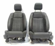 Full Set Of Leather Bucket Seats Oem 10 11 12 Ford Mustang Gt500
