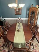 Thomasville Windsor Antique Dining Table And 6 Chairs