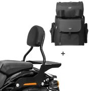 Sissy Bar Cl + Tail Bag For Harley Fat Boy 18-19 With Rack
