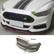 St Primer Black Front Bumper Center Hood Grill For Ford Mondeo Fusion 2017-2020