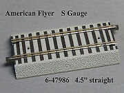 American Flyer 6-47986 4.5 S Gauge Fastrack Straight Track Section 10