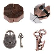 Intelligence Chinese Lock Puzzles Metal Brain Teaser Toys For Kids Adults