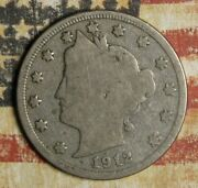 1912-s Liberty V Nickel Collector Coin Free Shipping.