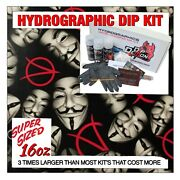 Hydrographic Dip Kit Anonymous Mask Hydro Dip Dipping 16oz