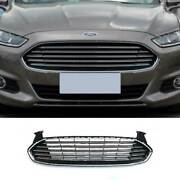 Chrome Front Bumper Upper Grill Grille Mesh 1pc For Ford Mondeo Fusion 2013-2016