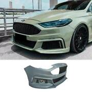 Mt Primer Black Front Bumper Bottom Protector 2pc For Ford Mondeo Fusion 2013-16