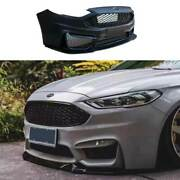 M Primer Black Front Bumper Bottom Protector 1pcs For Ford Mondeo Fusion 2013-16