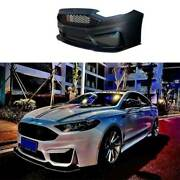M Primer Black Front Bumper Bottom Protector 1pcs For Ford Mondeo Fusion 2013-20
