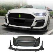 Primer Black Front Bumper Bottom Protector 2pcs For Ford Mondeo Fusion 2013-2016