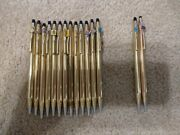 Lot Of 15 Cross Ball Point Pens And Pencils 1/20  10k,12k,14k Gold Filled.