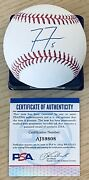 Freddie Freeman Licensed Psa/dna Authenticated Signed Mint Manfred Game Baseball
