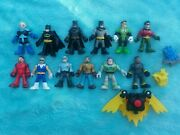 Imaginext Marvel And Dc Lot 12 Action Figures- Toy Story Buzz Batman Robin