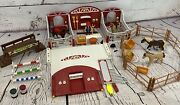 Playmobil Luna Fino Horse Pens Horses And Figure Barn Pen Red Fence Horse Arena