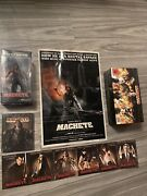 Machete Blu Ray Uk Steelbook And Figure Gift Set And Poster And Cards - Germany Import