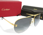 B51b77e Panther Aviator Shape Gradient Lens With Accessories Mens