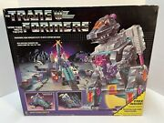 Transformers G1 Trypticon 1986 - 100 Complete Box Weapons And Instructions