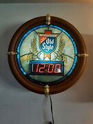 Old Style Beer Lighted Digital Clock Sign