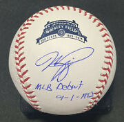 Mike Piazza Signed Mlb Debut Baseball Tristar Coa Wrigley Field Autographed Mets