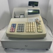Sharp Xe-a402 Electronic Cash Register With Keys 1 Manager Tested Works