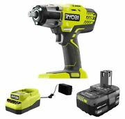 Ryobi P261k1 18v One+ 1/2 In Cordless Impact Wrench With Charger And 4ah Battery