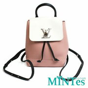 Auth Louis Vuitton Rock Me Backpack Mini Rucksack M53195 Leather Pink White Blac