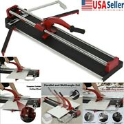 Dual Track 23-32 In Pro Manual Tile Cutter Porcelain Floor Tiles Cutting Machine