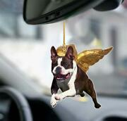 Boston Terrier Flying Angel Ornament, Hanging Ornaments, Hanging Decoration