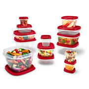 Rubbermaid, Easy Find Lids, Food Storage Containers With Vented Lids, 28-piece S