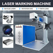 30w Fiber Laser Marking Metal Engraver Marker 7.9andtimes7.9 With Rotary Axis