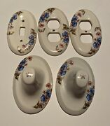 Vintage Porcelain Towel Rack With Light And Outlet Covers