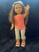 American Girl Doll With Isabella Palmers Meet Outfit On