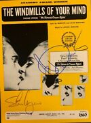 The Windmills Of Your Mind Autographedsteve Mcqueen And Faye Dunaway Sheet Music