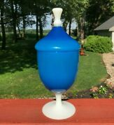 1800s Stevens And Williams Opaline Alabaster Clambroth Art Glass Apothecary Jar