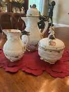Mottahedeh Swan 5 Pc. Coffee Service/coffee Pot And Lid, Sugar Bowl And Lid Andcreamer