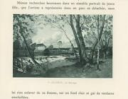 Antique Farm House Water Mill Dam River Stream Woods Nature Small Old Art Print