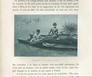 Antique Fishing Party Fisherman Pretty Woman Row Wooden Boats Oars Pond Print