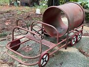"""Vintage Playground Equipment """"lil' Red"""" Fire Truck Outside Toy Ride-on Antique"""