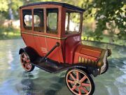 Tin Litho Old Timer Automobile Vintage Made In Japan Modern Toys Friction Power