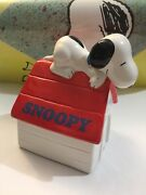 Vintage Peanuts Snoopy Super Beagle Willitts Music Box Plays Home Sweet Home