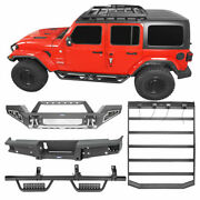 Front Rear Bumper Running Board Step Roof Rack Kit Fit Jeep Gladiator Jt 20-21