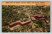 Fort Wayne In-indiana, Aerial View Of General Electric Works, Linen Postcard