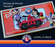 Lionel Mickey Mouse And Minnie Powered O-27 Handcar, Cute. Nos By Former Dealer