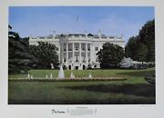 Bill Clinton Signed Auto Autograph 24x34 White House Litho Library And Jsa Dna Loa