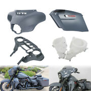 Gray Inner Outer Batwing Fairing Saddlebag Fit For Harley Electra Glide 14-21 18