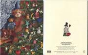 1 Christmas Tree Teddy Bears Snowman Ornaments Cat Old Fashioned Christmas Card