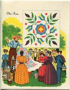 Vintage Country Auction Estate Sale Handmade Ohio Rose Quilt Print On Note Card