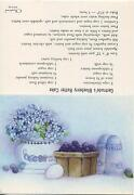 Vintage Blueberry Batter Cake Recipe Egg S And P Shakers Blue Hydrangea Card Print